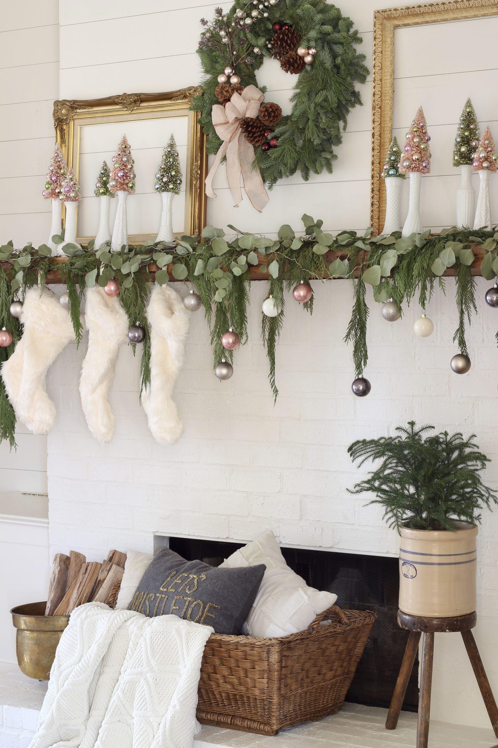 Noel mantel hakkında dökmeyen çelenk