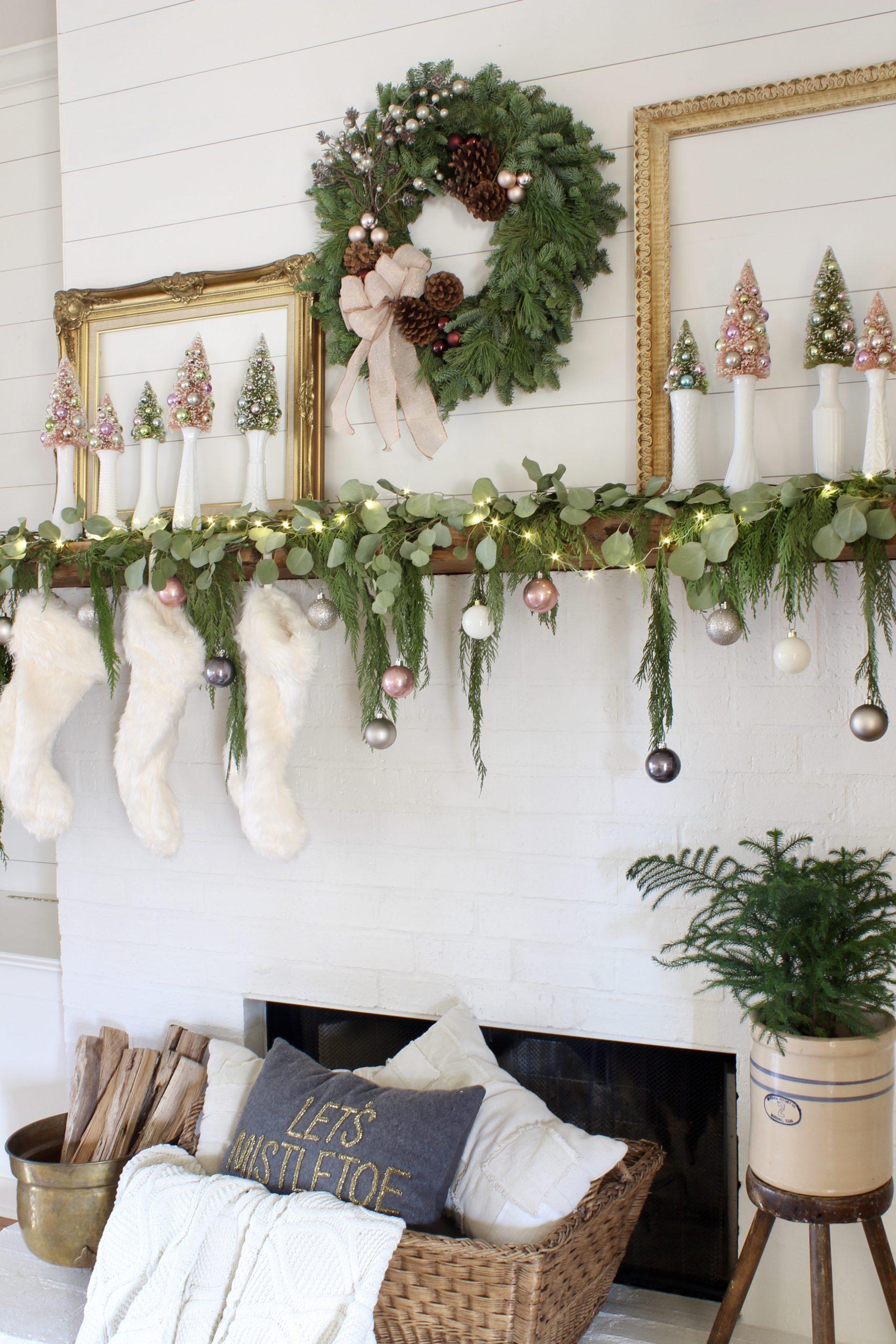 zarif tarz Noel şömine