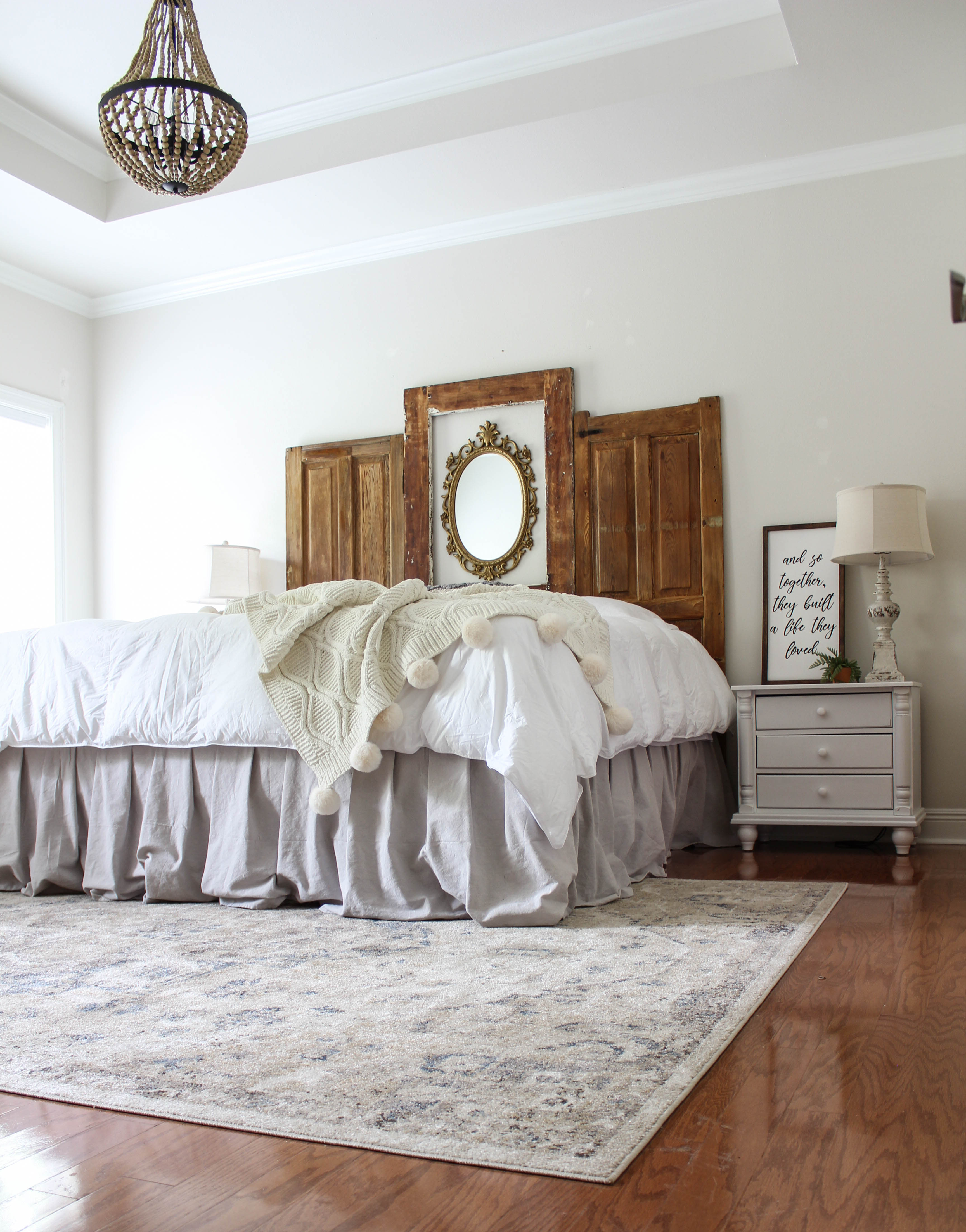Diy Bed Skirt No Sew Dropcloth Beauty For Ashes